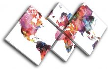 Watercolour  Abstract Maps Flags - 13-6013(00B)-MP19-LO